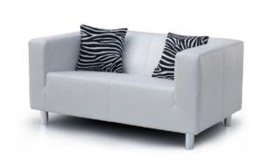 B-famous 2-Sitzer Sofa Cube 135 x 85 cm, PU, weiß