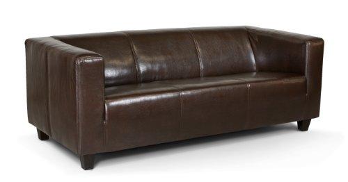 B-famous 3-Sitzer Sofa Kuba 186 x 88 cm, Kunstleder, braun