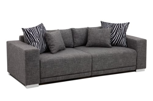 B-famous Big Sofa London-XLStruktur grau, 237x103 cm,