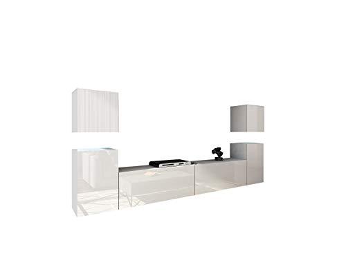 Home Direct Future 32, Modernes Wohnzimmer, Wohnwände, Wohnschränke, Schrankwand, Möbel 32/HG/W/2 1A