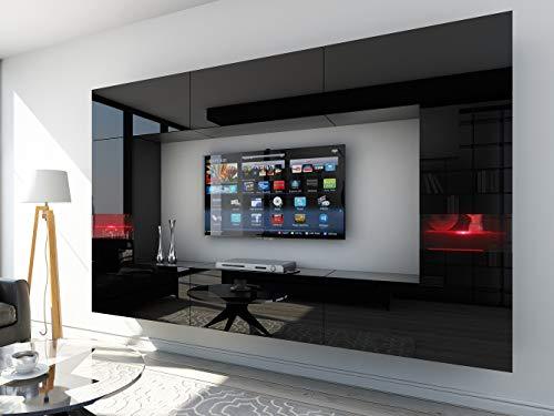 HomeDirectLTD Future 29 Moderne Wohnwand, Exklusive Mediamöbel, TV-Schrank, Schrankwand, TV-Element Anbauwand, Garnitur, Große Farbauswahl (RGB LED-Beleuchtung Verfügbar)