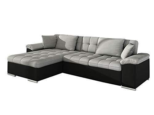 Mirjan24 Ecksofa Diana, Eckcouch mit Bettkasten und Schlaffunktion, Elegante Couch, Polsterecke Sofa, Farbauswahl…