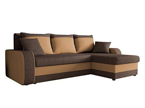 Mirjan24 Ecksofa Kristofer Lux, Eckcouch Couch! mit Schlaffunktion, Zwei Bettkasten, Farbauswahl, Wohnlandschaft…