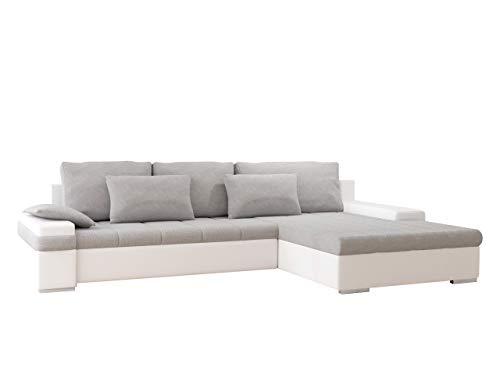 Mirjan24 Ecksofa, Kunstleder/feiner Webstoff, Soft 017/Bristol 2460, 310 x 175 x 83 cm