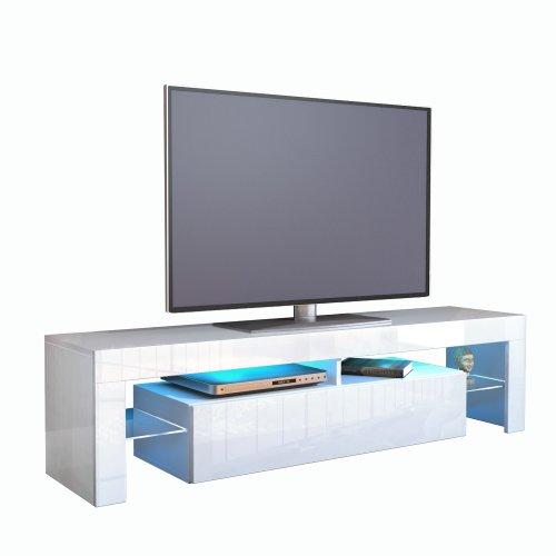 Vladon TV Schrank Lowboard Fernsehschrank Fernsehtisch Wohnzimmer Lima V2 in Weiß/Avola-Anthrazit