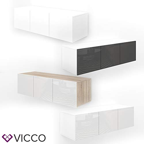 Vicco Sideboard Cumulus Highboard Hochglanz Kommode Lowboard TV Anrichte