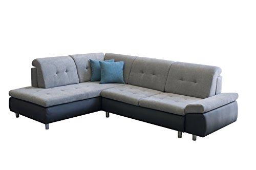 mb-moebel Ecksofa Eckcouch mit Bettkasten Sofa Couch L-Form Polsterecke Congo (Braun, Ecksofa Links)