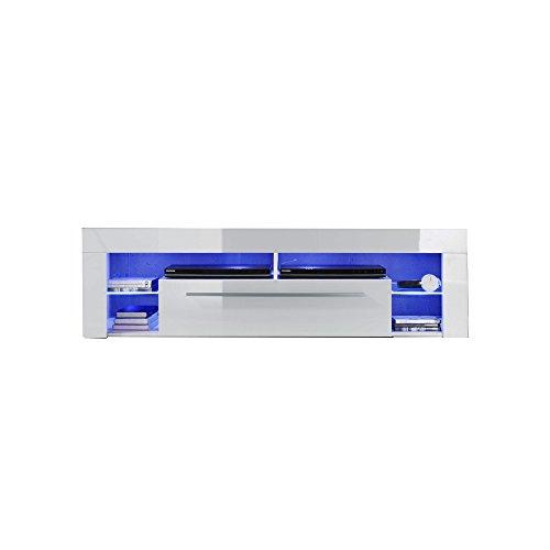 trendteam Wohnzimmer Lowboard Fernsehschrank Fernsehtisch Score Wohnen, 153 x 44 x 44 cm in Weiß Hochglanz ohne…