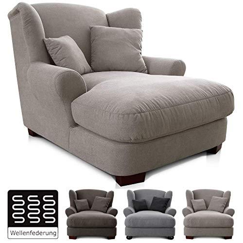 CAVADORE XXL-Sessel Oasis / Großer Polstersessel im modernen Design / Inkl. 2 schöne Zierkissen / 120 x 99 x 145