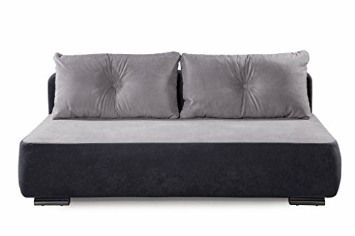 Collection AB Factory Schlafsofa, Stoff, hellgrau, 93 x 193 x 72 cm