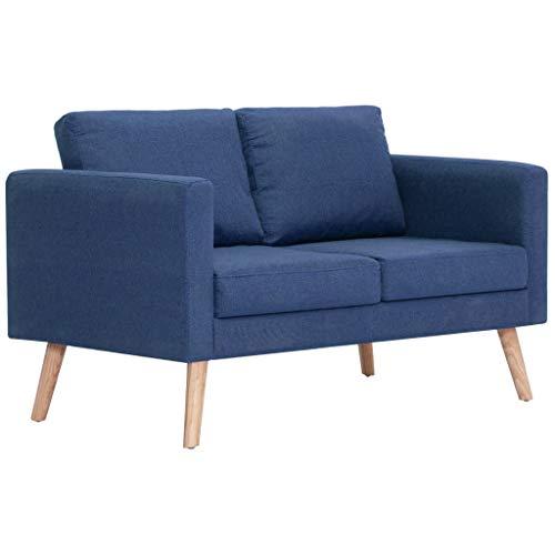 vidaXL Sofa 2-Sitzer mit Rückenkissen Sitzkissen Zweisitzer Polstersofa Loungesofa Lounge Stoffsofa Sitzmöbel Wohnzimmer…