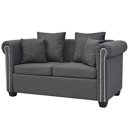 vidaXL Sofa 3-Sitzer mit Kissen Luxus Dreisitzer Stoffsofa Polstersofa Loungesofa Couch Polstermöbel Wohnzimmersofa…