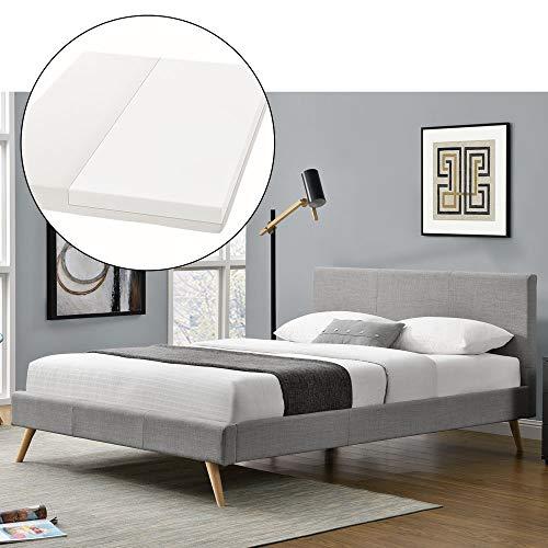 ArtLife Polsterbett Toledo 140x200 cm inkl. Matratze & Lattenrost – Bett mit Kopfteil & Stoff – skandinavisch…