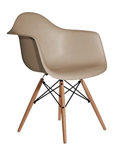 Aryana Home Eames Replik Sessel, 59x 62x 82,50cm 59x62x82.5 cm beige