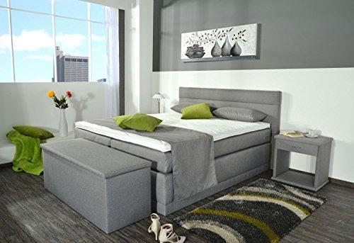 Aukona Hanna Boxspringbett 90x200 7-Zonen Taschenfederkern Härtegrad H2 H3 H4 Komfort Topper Hotelbett Doppelbett…