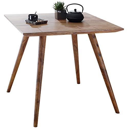 FineBuy Esszimmertisch Sheesham rustikal Massiv-Holz | Design Landhaus Esstisch | Tisch für Esszimmer