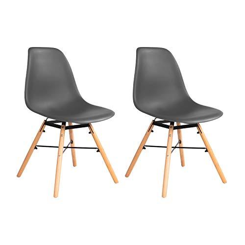 MIFI Wohnzimmerstuhl Esszimmerstuhl Bürostuhl Kunststoff Chair Eiffel Eiffelturm (Weiß, 4 PC)