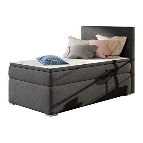 SELSEY MECHICO – Diwan-Bett / gepolstertes Hochbett / Schlafzimmermöbel mit Stauraum Left-hand Side violett