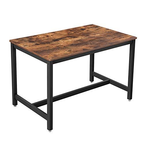 VASAGLE Küchentisch, Esstisch, 120 x 75 x 75 cm, Esszimmertisch für 4 Personen, Kaffeetisch, Wohnzimmer, Esszimmer…