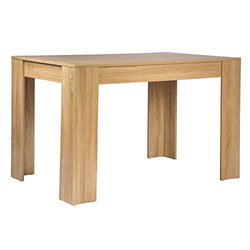 WOLTU® Esszimmertisch TSG18hei Küchentisch Esstisch Schreibtisch Arbeitstisch Holztisch, in Melamin, 120x80x75,5cm(BxTxH…