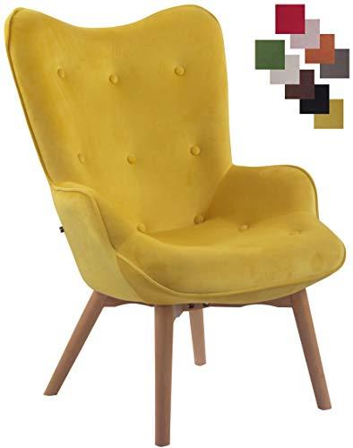 CLP Lounger Duke mit geknöpfter Polsterung und Stoffbezug I Loungesessel mit Armlehnen und Gestell aus Buchenholz, Farbe…
