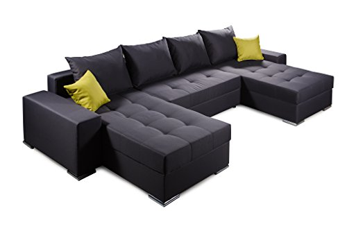 Collection AB Jockey Ecksofa, Stoff, anthrazit, 161 x 313 x 64 cm