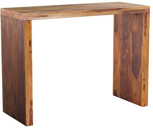 DuNord Design Laptoptisch Schreibtisch Massiv JAKARTA100cm Palisander Sheesham Natur Holztisch Konsole