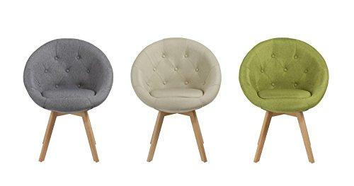 Stuhl Esszimmerstuhl Küchenstuhl mit Holzbeinen Sessel Retro Stoffbezug Farbauswahl Duhome 509G, Farbe:Grau-1, Material…