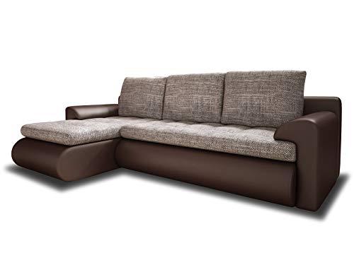 Ecksofa Santi - Polsterecke L-Form, Schlafsofa mit Bettkasten, Couchgarnitur mit Schlaffunktion, Couch, Sofa, Sofagarnitur