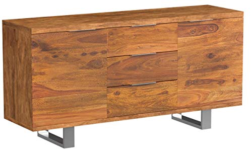 Invicta Interior Massives Sideboard Sheesham Palisander FIRE & Earth Stone Finish 160cm