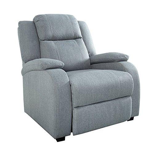 Invicta Interior Relaxsessel Hollywood hellgrau Stoff verstellbar Liegesessel Sessel Fernsehsessel Wohnzimmer mit…