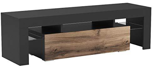 Mirjan24 TV Board Lowboard Toro 138, TV Lowboard mit Grifflose Öffnen, Unterschrank, Sideboard Mediaboard, Fernsehschrank, Mediaboard