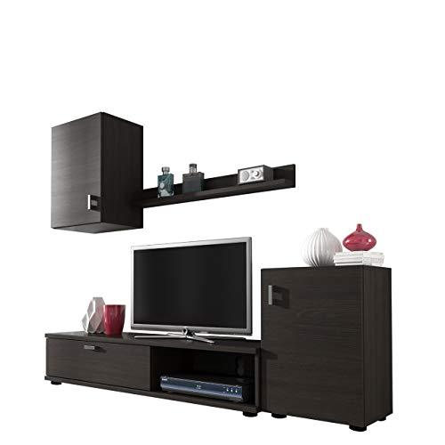 Mirjan24  Wohnwand Lia, Elegantes Wohnzimmer Set, Praktische Anbauwand, Schrankwand, Hängeschrank, TV Lowboard, Stehschrank
