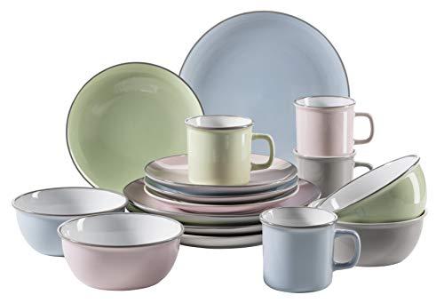 Mäser Serie Maila, Vintage Geschirr Service aus Keramik