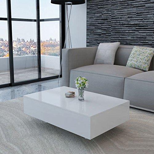 Couchtisch Hochglanz Weiß Möbel Tische Ziertische Couchtische