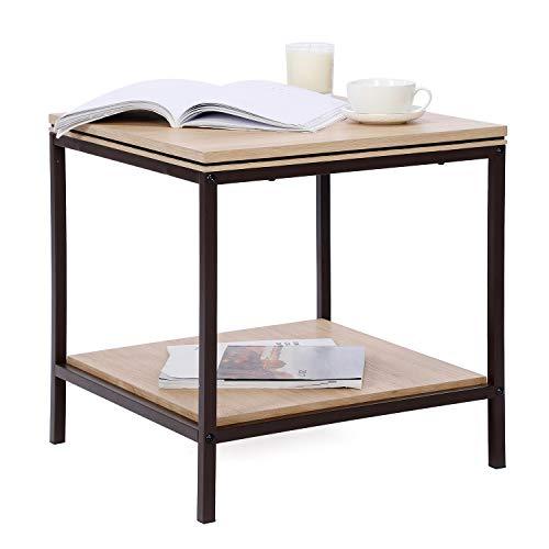 Sekey Home Wohnzimmertisch Akzentmöbel in Holzoptik (MDF) mit Metallrahmen