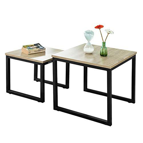 SoBuy® FBT42-N 2er Set Couchtisch Beistelltisch 2-teilig Satztisch Sofatisch Kaffeetisch Tisch-Set