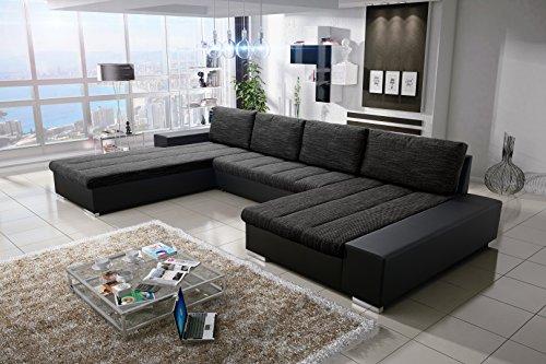 Sofa Couchgarnitur Couch Sofagarnitur Verona U Polstergarnitur Polsterecke Wohnlandschaft mit Schlaffunktion (Soft 11…