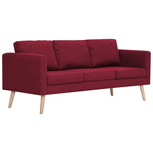 Tidyard Schlafsofa mit Rückenkissen, 3 Sitzer Sofa, Couch mit Sitzkissen, Bettsofa Schlafsofa Polstersofa Farbauswahl…