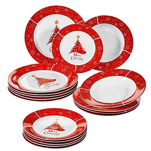 VEWEET, Serie Christmastree, Porzellan Tafelservice