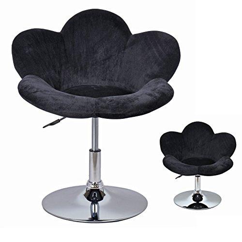 ts-ideen 1x Barhocker Polstersessel Blume Schwarz Lounge Sessel Barsessel Clubsessel Relax XL Cocktailsessel Ohrensessel…