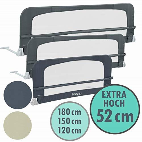 Froggy Bettgitter EXTRA HOCH 120 x 52 cm Verwendung mit Boxspringbett möglich Bettschutzgitter Kinderbettgitter…