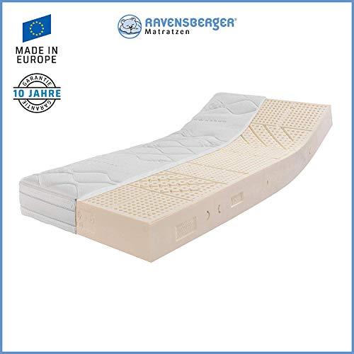 RAVENSBERGER Ergo-Natura® 100 | Latexmatratze 100% Naturkautschuk | 7-Zonen Komfort-Matratze | H2 RG 70 (45-80 kg…