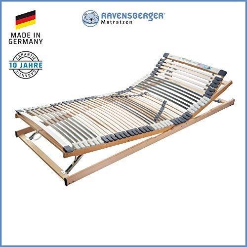 RAVENSBERGER MEDIMED® 44-Leisten 7-Zonen-BUCHE-Lattenrahmen | Größen 80-200 cm bis 140 x 220 cm| Verstellbar |