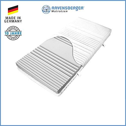 RAVENSBERGER SOFTWELLE | 7-Zonen-HR-Kaltschaumkomfortmatratze in den Härtegraden H1, H2, H3 und Größen 90 x 200 cm bis 140 x 200 cm verfügbar