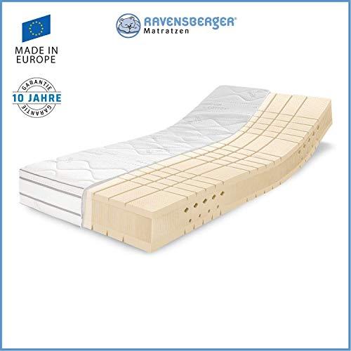 RAVENSBERGER TALALAY® Premium Latexmatratze 100% Naturlatex | 7-Zonen-Latexmatratze H2+H3 RG 66 (45-120kg) | Made IN…
