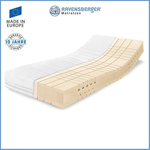 RAVENSBERGER TALALAY® Premium Latexmatratze 100% Naturlatex | 7-Zonen-Matratze H2+H3 oder H4 | Made IN Germany - 10 Jahre Garantie | Baumwoll-Doppeltuch-Bezug