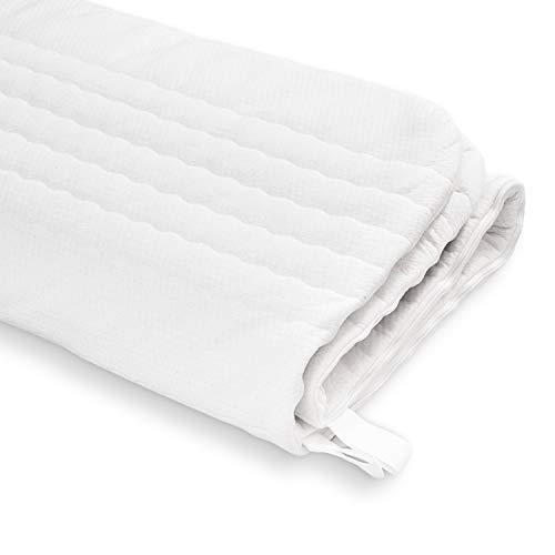 Ravensberger Matratzen® Baumwoll-Doppeltuch-Bezug Waschbar mit 4-seitigem Reißverschluss geeignet für Kernhöhe 14-16 cm Matratzenbezug in Verschiedene Größen