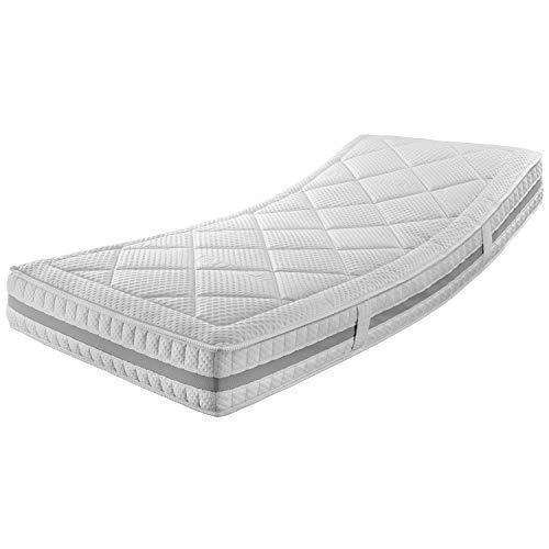 Ravensberger Matratzen® ERGOspring TFK 1000 | 7-Zonen Deluxe Tonnen-Taschenfederkernmatratze 1000 H2 (bis 95 kg) | Made…