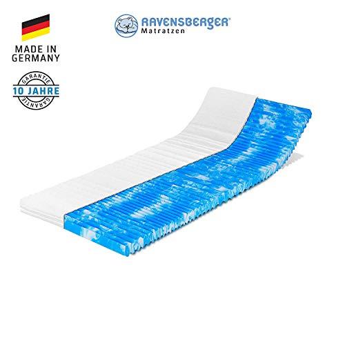 Ravensberger Matratzen® Gel-LUX 50 Topper | 9 cm Gesamthöhe |7 Zonen GELAX® Gelschaum-Auflage |H2/3 RG50 (50 x 110 kg) | 160 x 200 x 9 cm | mit MEDICORE silverline® Bezug